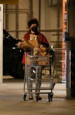 Alia Shawkat Makes a stop at Erewhon Market for some groceries and a couple of small pizzas in Los Angeles
