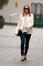 Amanda Holden Seen leaving Global Studios, Heart FM in London