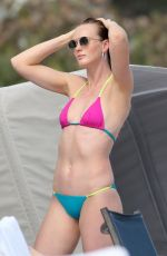 Anne Vyalitsyna Seen on the beach in Miami