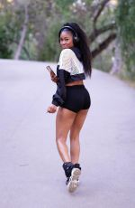 Ariane Andrew Out for a hike at Fryman Canyon in Studio City