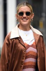 Ashley Roberts Dressed in a Kate Spade NY dress, a Nasty Gal jacket and Kurt Geiger boots at the Heart Radio Studios in London