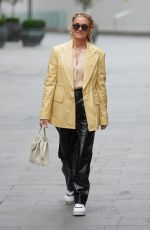 Ashley Roberts Leaving the Global Radio Studios looking stylish wearing ROTATE Birger Christensen jacket and trousers in London