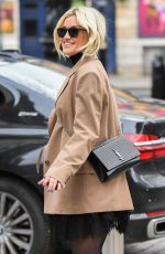Ashley Roberts Looks stylish and chic spotted at the Global Radio Studios in London