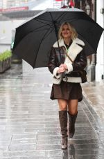 Ashley Roberts Outside the Global Radio Radio Studios in London