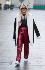 Ashley Roberts Wearing an outfit by Mistress Rocks as she leaves the Global Radio Studios in London