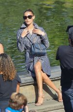 Bella Hadid At photoshoot in Central Park in NYC