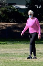 Brigitte Nielsen Spends a family day at a park in Los Angeles
