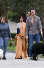 Camila Cabello Walking her family dogs in Miami