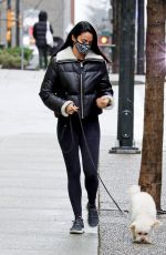 Camila Mendes Walking her dog in Vancouver
