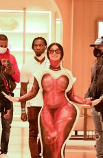 Cardi B Shopping at Rodeo Dr with Offset in Beverly Hills