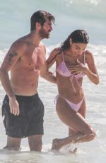 Chantel Jeffries & Drew Taggart On the beach in Tulum in Mexico