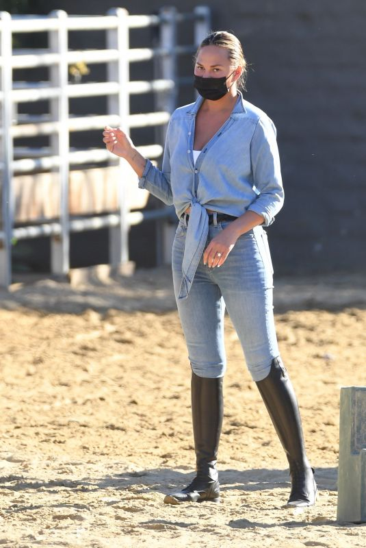 Chrissy Teigen Spotted out in Malibu on Sunday as they took a family trip to ride horses