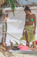 Dua Lipa In Bikini on the beach in Tulum