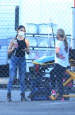 Eiza Gonzales On the set of Ambulance in Los Angeles