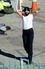 Eiza Gonzalez Filming on the set of Ambulance in Los Angeles