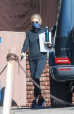 Gwyneth Paltrow Dons all black while exiting the gym in Santa Monica