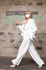 Heidi Klum Comes to the production of About You Fashion Week in the power plant in Berlin