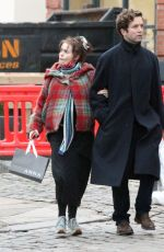Helena Bonham Carter All smiles on a walk with her boyfriend Rye Dag Holmboe in Primrose Hill