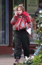 Helena Bonham Carter Seen out in North London shopping at a health food shop