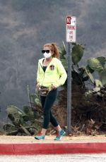 Isla Fisher Out for a hike in the Hollywood Hills