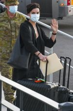 Jaimie Alexander Arrives at the Sydney airport to begin production of Thor Love and Thunder