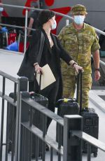 Jaimie Alexander Arrives in Sydney