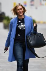 Jenni Falconer Departs the Global Radio Studios after her Smooth Radio show in London