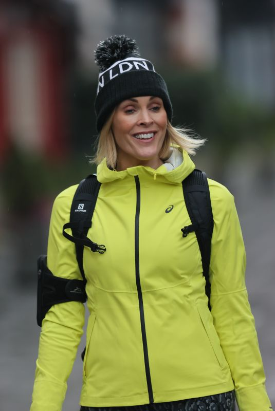 Jenni Falconer Makes fashionable exit from Global Radio in London