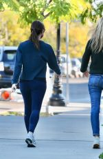 Jennifer Garner Meets up with a friend for a walk together in Brentwood