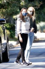 Jennifer Garner Visit her new mansion that is being constructed in Brentwood