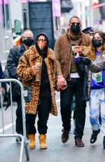 Jennifer Lopez Arrives for rehearsals in Times Square for her New Years Eve performance in New York