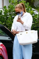 Jennifer Lopez Has lunch after working out in Miami