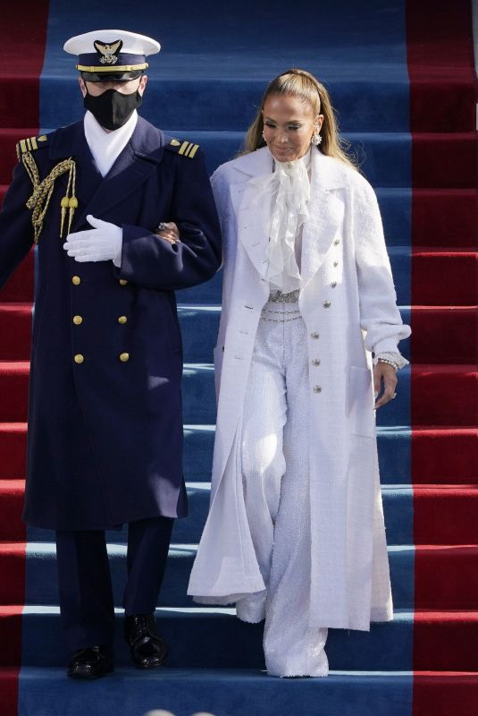 Jennifer Lopez Performs before US President-elect Joe Biden is sworn in as the 46th US President at the Capitol in Washington