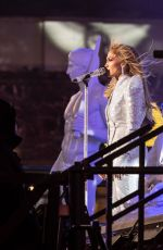 Jennifer Lopez Performs on stage during 2021 New Year celebration on Times Square, New York