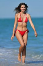 Jessica Markowski In Red bikini at the beach in Miami