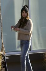 Jordana Brewster Enjoys a breakfast burrito while out with boyfriend Mason Morfit and her kids in Brentwood