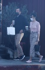 Jordana Brewster Holds hands with her boyfriend Mason Morfit as they go shopping at Farmshop in Los Angeles