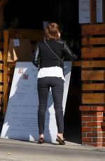 Kate Mara Getting coffee in black jeans in Los Feliz