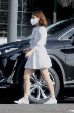 Kate Mara In Short white dress out in Beverly Hills