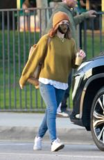 Kate Mara Takes her daughter out for a playdate at the park with a friend in Pasadena