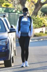Katherine Schwarzenegger Takes her baby girl out for an evening stroll in Santa Monica