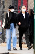 Katie Holmes And her boyfriend Emilio Vitolo Jr walk hand in hand while out for a stroll in SoHo