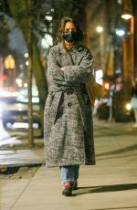 Katie Holmes Out for an evening stroll in New York City