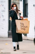 Katie Holmes Shopping at Macy