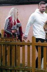 Katie Price & Carl Woods Take their dogs to the dog groomers Waggy Tails in Felsted, Essex