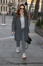 Kelly Brook Outside the Heart radio station in London