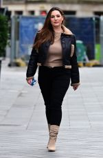 Kelly Brook Pictured arriving at the Global Radio Studios in London