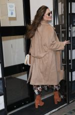 Kelly Brook Pictured at Heart radio in a floral dress in London