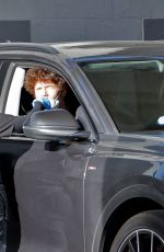 Laura Dern Get tested with her son for COVID-19 from their car in Beverly Hills