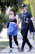 Lena Headey All smiles after a working out at the gym with her boyfriend Marc Menchaca in Hollywood